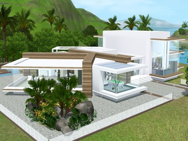This Big Modern House Offers You Almost Everything You Need Found In Tsr Category Sims 3 Residential Lo Sims 4 Modern House Sims Building Sims 4 House Design