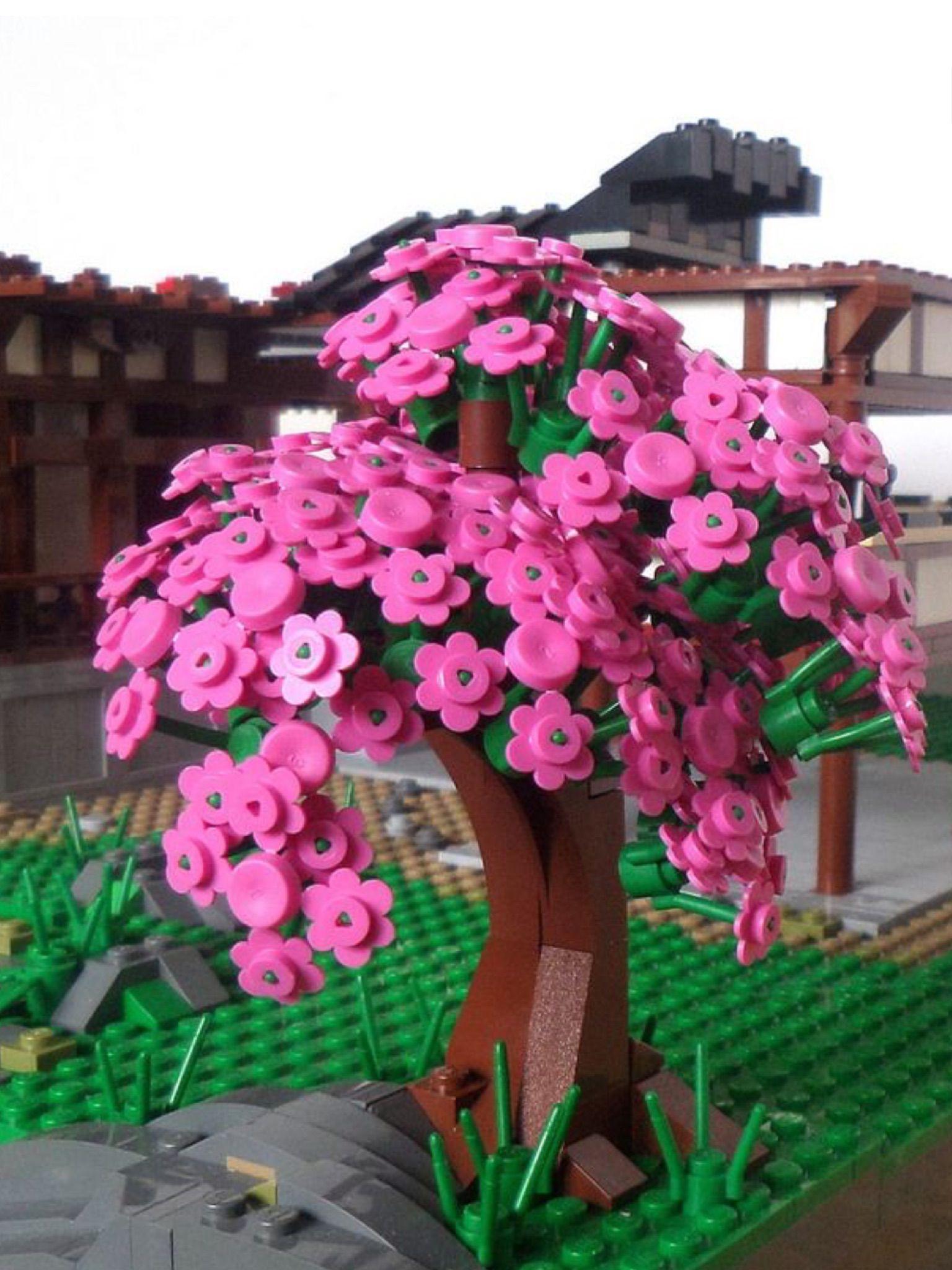 Lego Cherry Tree Lego Flower Lego Tree Lego Display