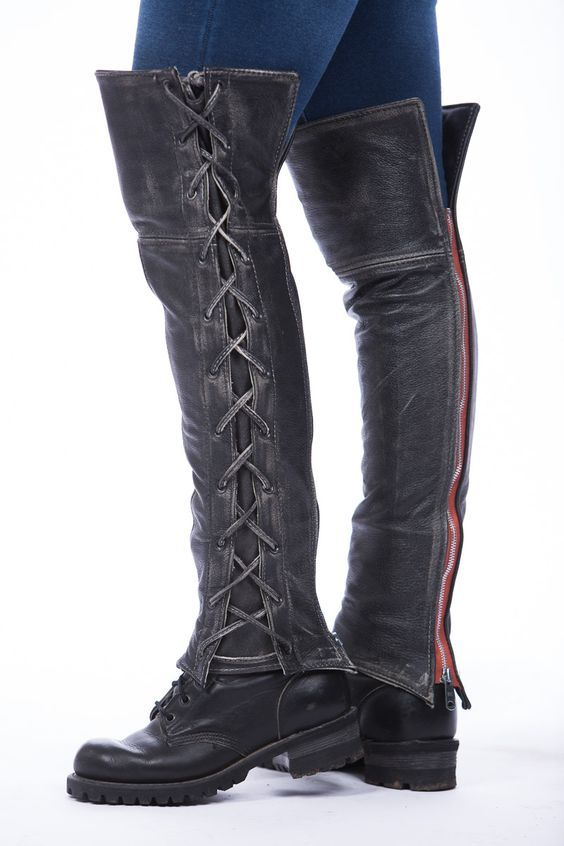 Leather Half Chaps | Product Categories | Lissa Hill Leather *Distressed Laced Half Chaps: http://www.lissahill.com/product-category/leather-half-chaps/