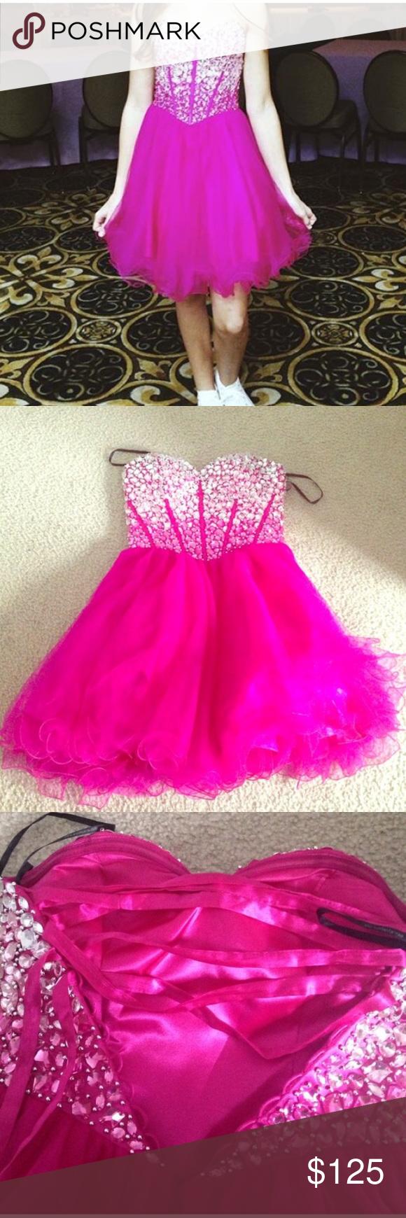 Pretty pink prom dress
