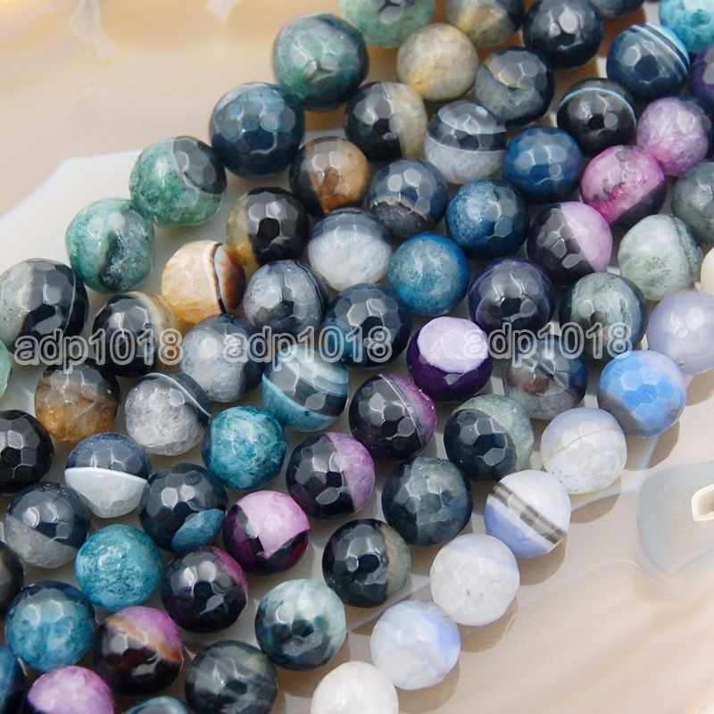 Details About Natural Druzy Agate Faceted Round Gemstone Loose Beads 10mm 12mm 14mm Beads Gemstones Agate