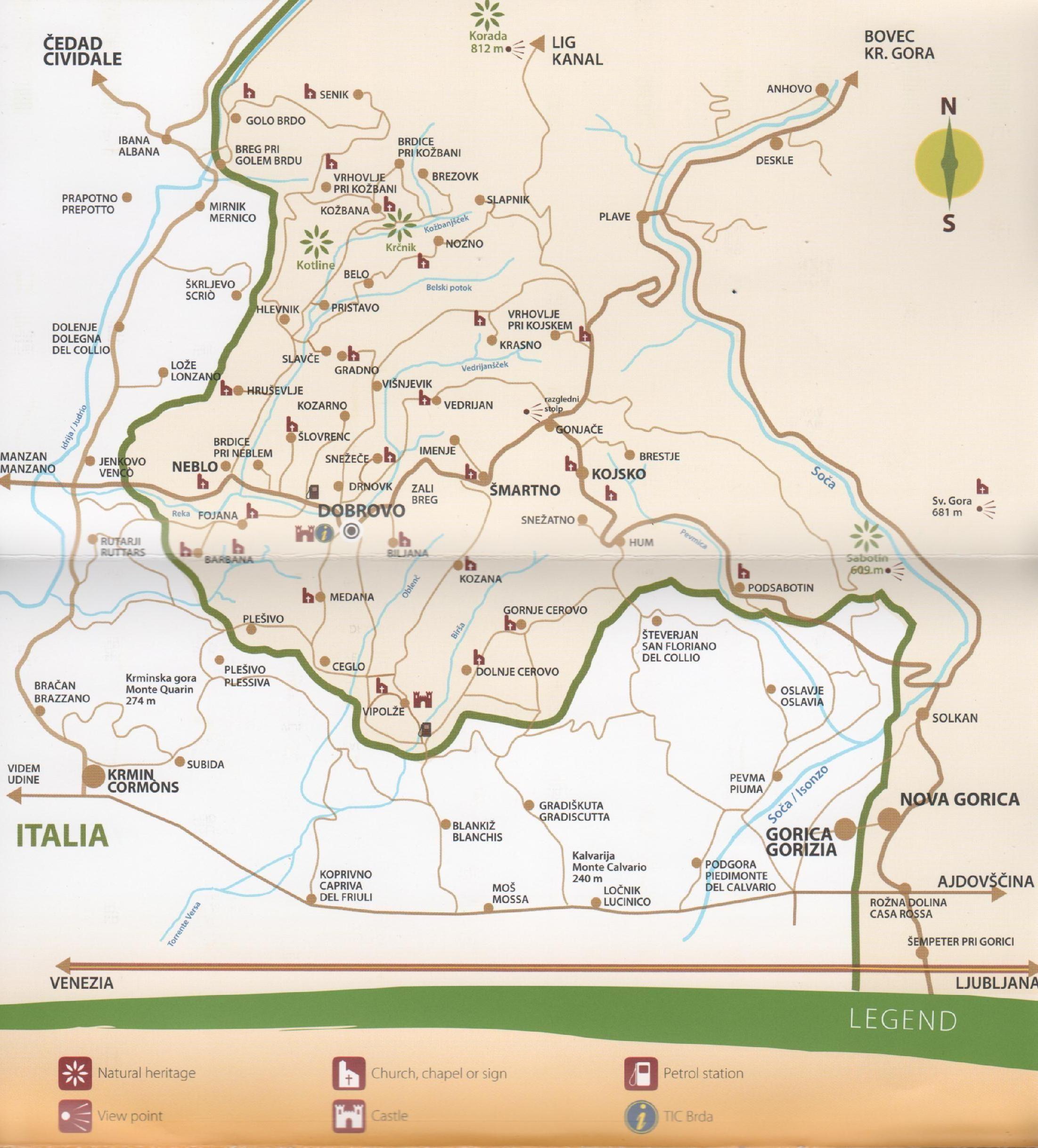 Goriska Brda Karte.Goriska Brda Slovenia Places To Visit Map Of Slovenia