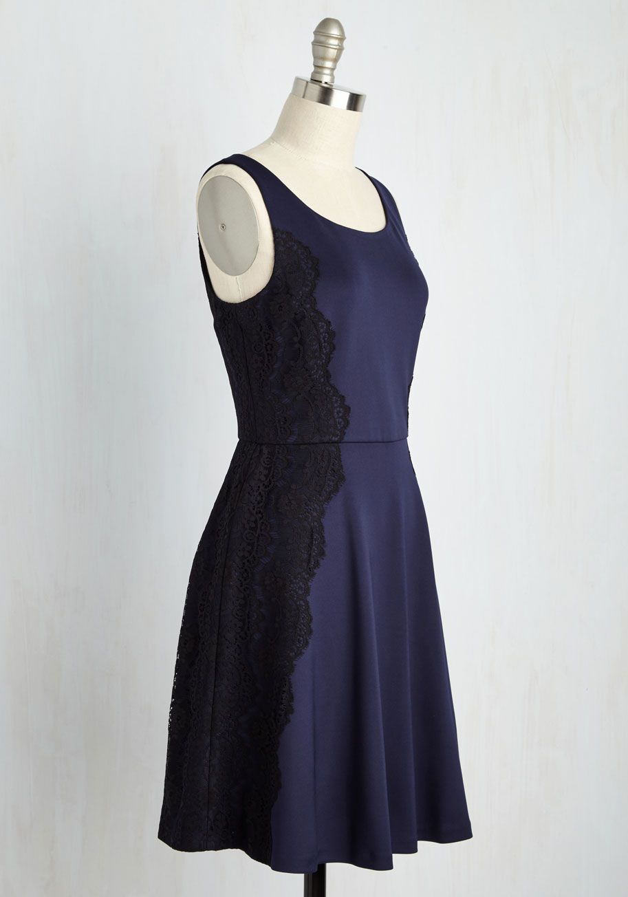 d97dc21c2e939 Classically Captivating Dress in Navy. There are few things more elegant  than a simple navy dress.  blue  prom  modcloth