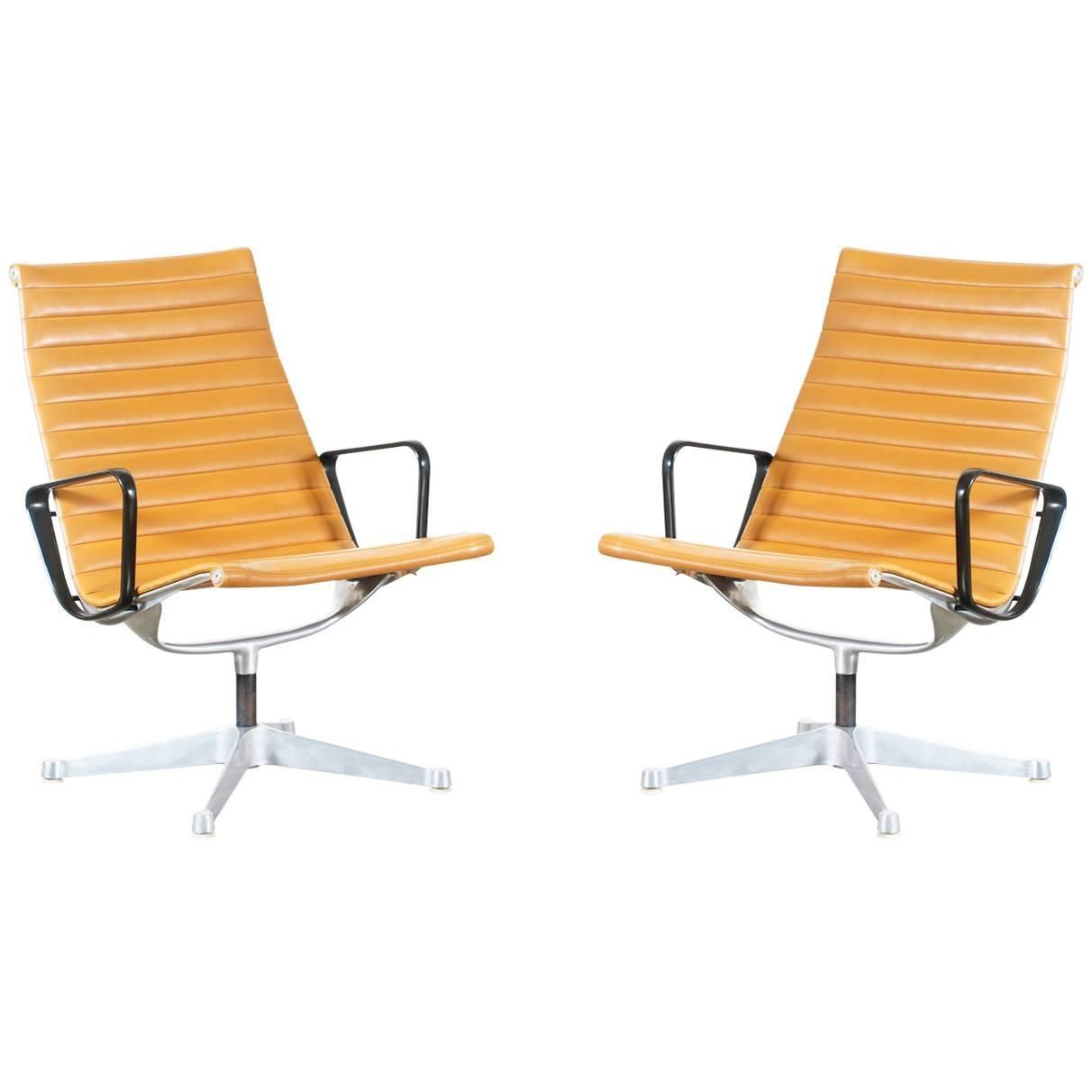 Charles ray eames aluminum group tan color lounge