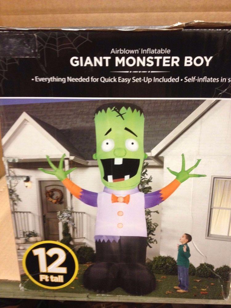 Giant Frankenstein Monster Boy Airblown Inflatable Gemmy Halloween Yard Prop