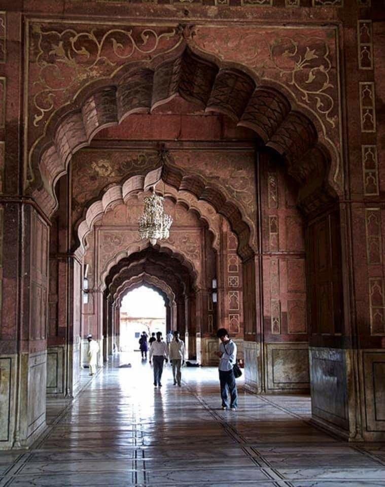 مسجد جاما نيودلهي الهند القرن السابع عشر يتسع ل ٢٥ ألف مصلي Jama Masjid Delhi Masjid Jama Masjid