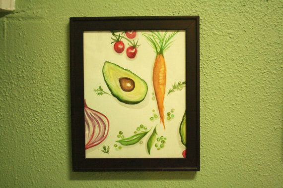 Vegetable Watercolor by TheCreativeTypes on Etsy