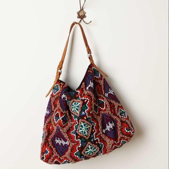 Anthropologie Beaded Bag