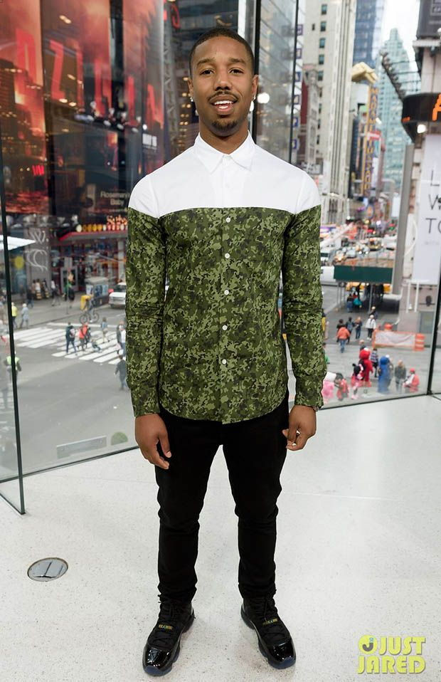 "e4c3234efba Michael B. Jordan in the Air Jordan 11 ""Gamma Blue"" 