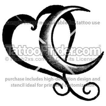 Heart And Moon Tattoo Designs Google Search Heart Tattoo Designs Moon Tattoo Heart Tattoo