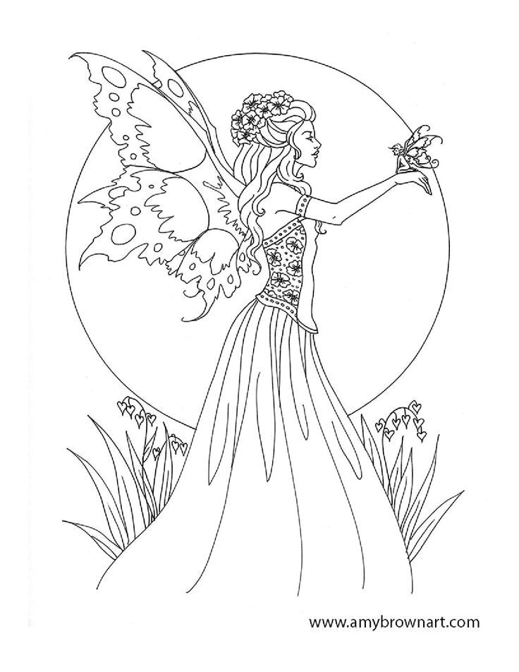 Free Amy Brown Fairy Coloring Pages Fairie Coloring