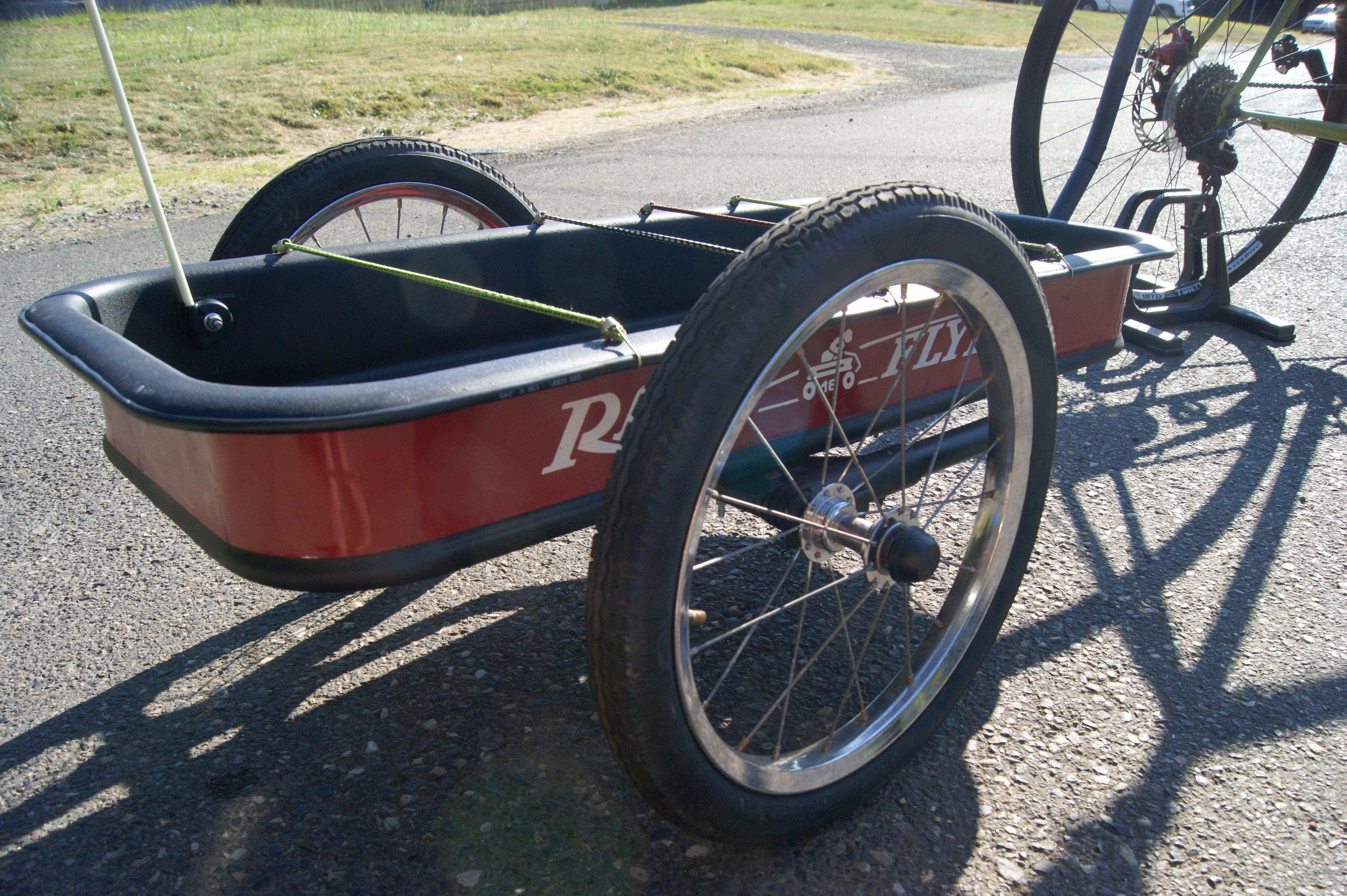 Radio Flyer Wagon Repurposed As A Bike Trailer Bike Trailer