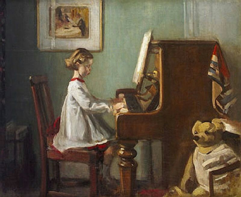 Child Playing The Piano Craig W Clough Piano Art Painting Art Music