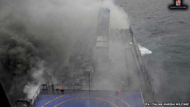 Marvelled Blog: Italy ferry fire: Evacuation hampered by winds