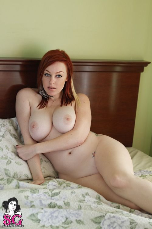 Naked girl with red hair