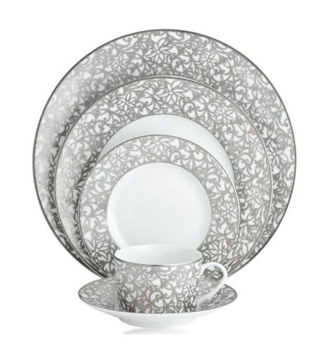 Salamanque Platinum Blanc Raynaud Creates Original Pieces In Classic French Limoges Porcelain Luxury Tableware Dinnerware Tableware
