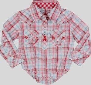 c469ce61b baby girl western wear | Wrangler All Around Baby Girls Pink Plaid Western  Body Suit