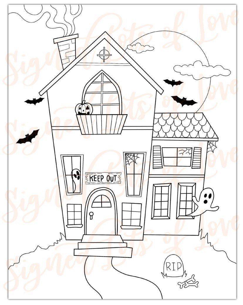 Digital Halloween Coloring Pages Printable Etsy Halloween Coloring Pages Printable Free Halloween Coloring Pages Halloween Coloring [ 1041 x 828 Pixel ]