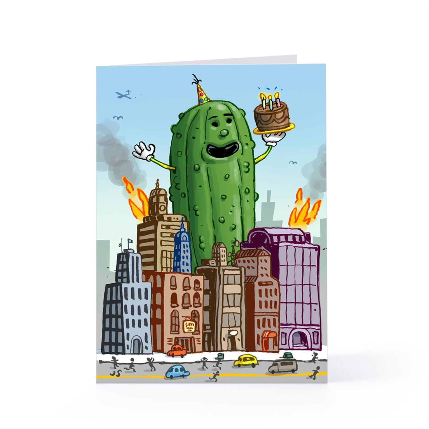 Giant pickle birthday cards hallmark bday cards