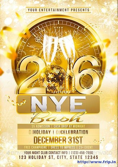 85+ Best New Year Flyer Print Templates 2016 http\/\/wwwfripin - new year brochure template