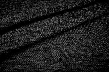 Möbelstoff Chenille - Weboptik - Schwarz