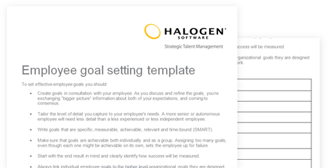 Employee Goal Setting Template