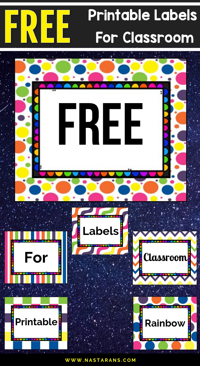 Free Printable and Editable Labels For Classroom