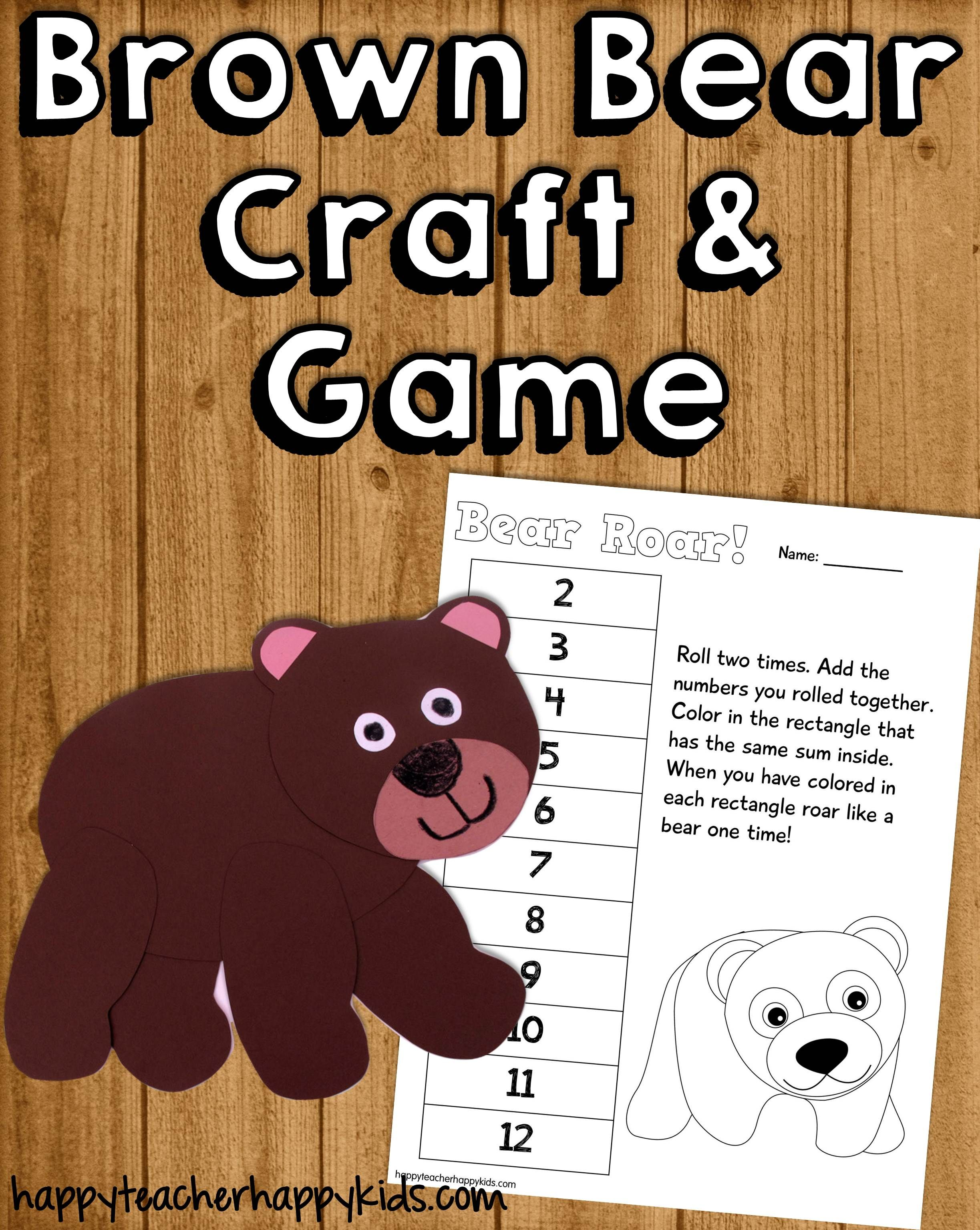 Brown Bear Craft Amp Math Game With Images