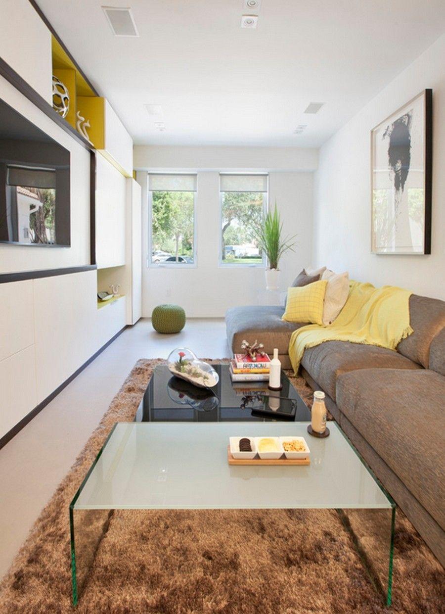 Decora O De Sala Pequena Tend Ncias 2017 Simples Barata E Moderna  -> Decoracao De Sala De Estar Pequena Com Tv
