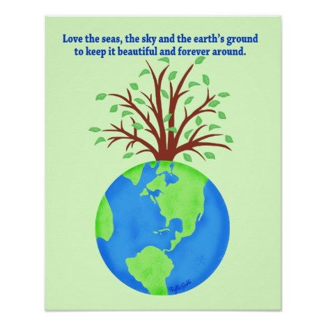 Love And Save The Earth Forever Environment Art Poster Zazzle Com Environmental Art Save Earth Posters Poster Art