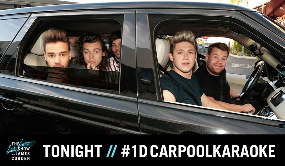 One Direction joins in carpool karaoke session with James Corden for 'Late Late Show' - http://www.movienewsguide.com/one-direction-joins-in-carpool-karaoke-session-with-james-corden-for-late-late-show/132654