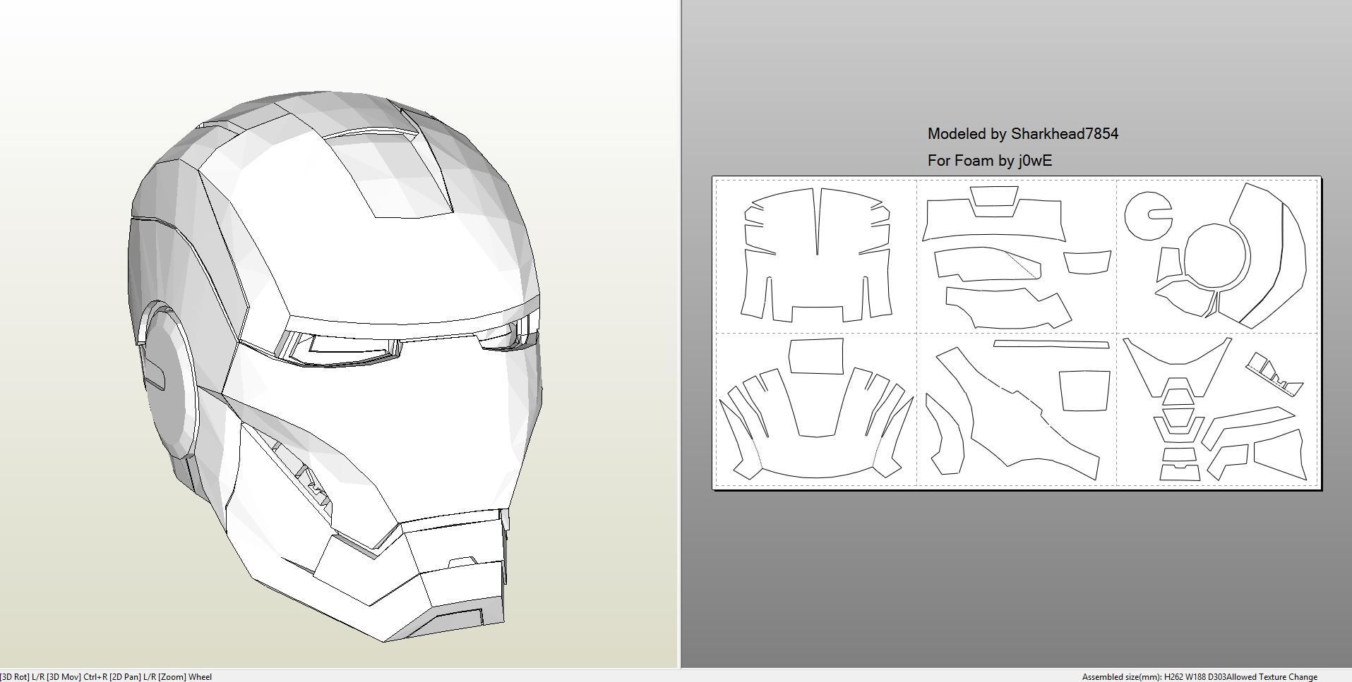 Papercraft pdo file template for iron man mark 4 6 for Iron man suit template