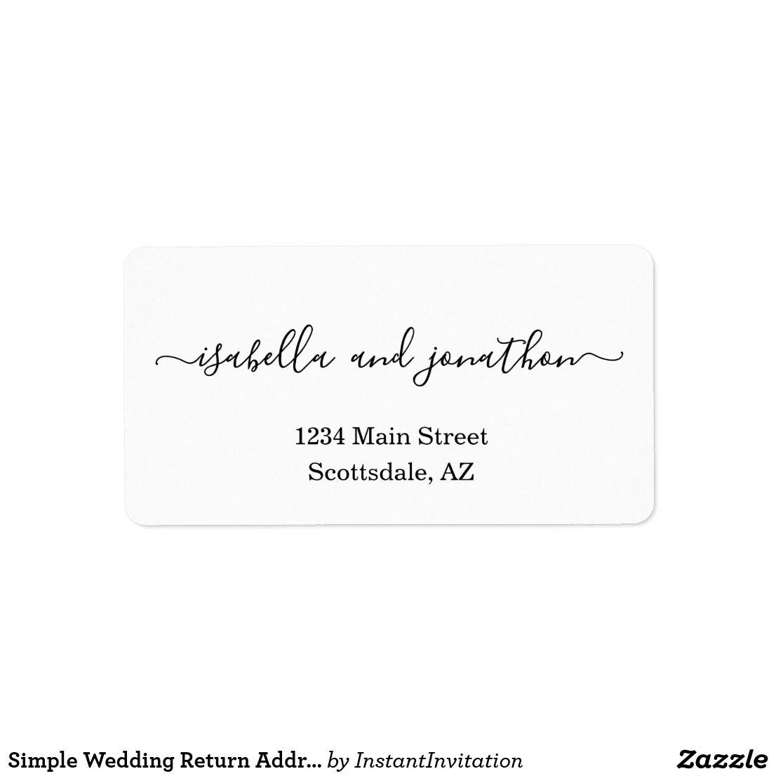 Simple Wedding Return Address Labels Wedding Return Address Labels Return Address Wedding Return Address Labels Wedding return address label template