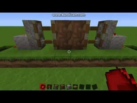 How to make a secret door minecraft