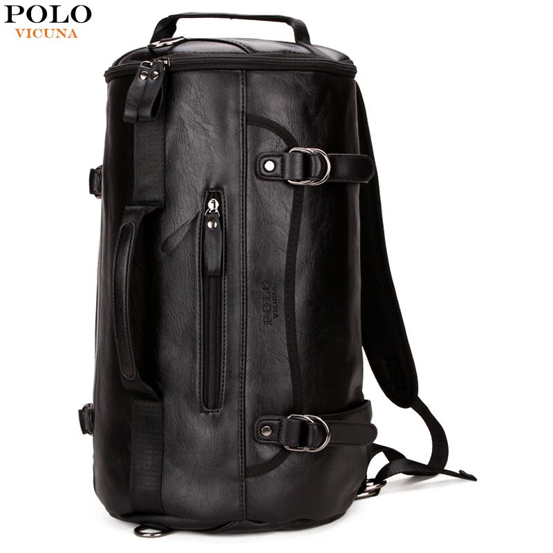 5a92d654302a VICUNA POLO Famous Brand Bucket Shape Men Travel Backpack Fashion Large Men  Travel Bag Multifunction Man