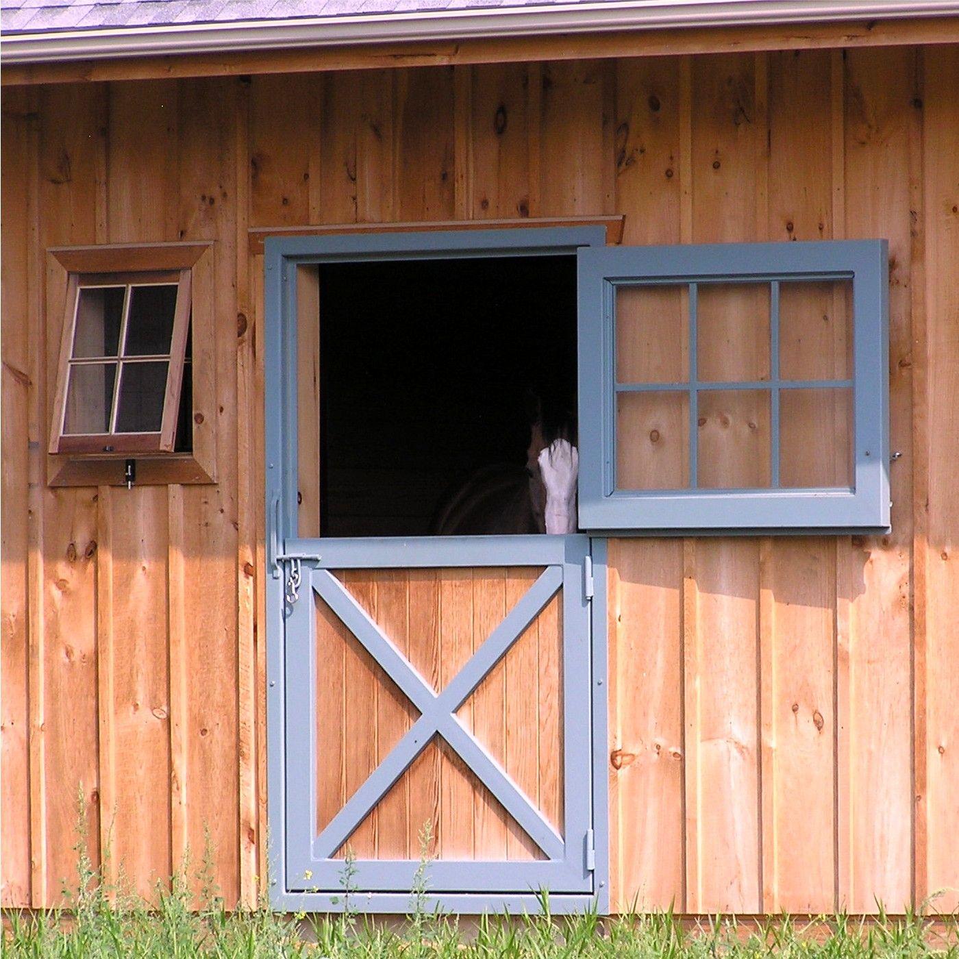 Dutch Door With Side Window Horse Barn Doors Small Horse Barns Farm Door