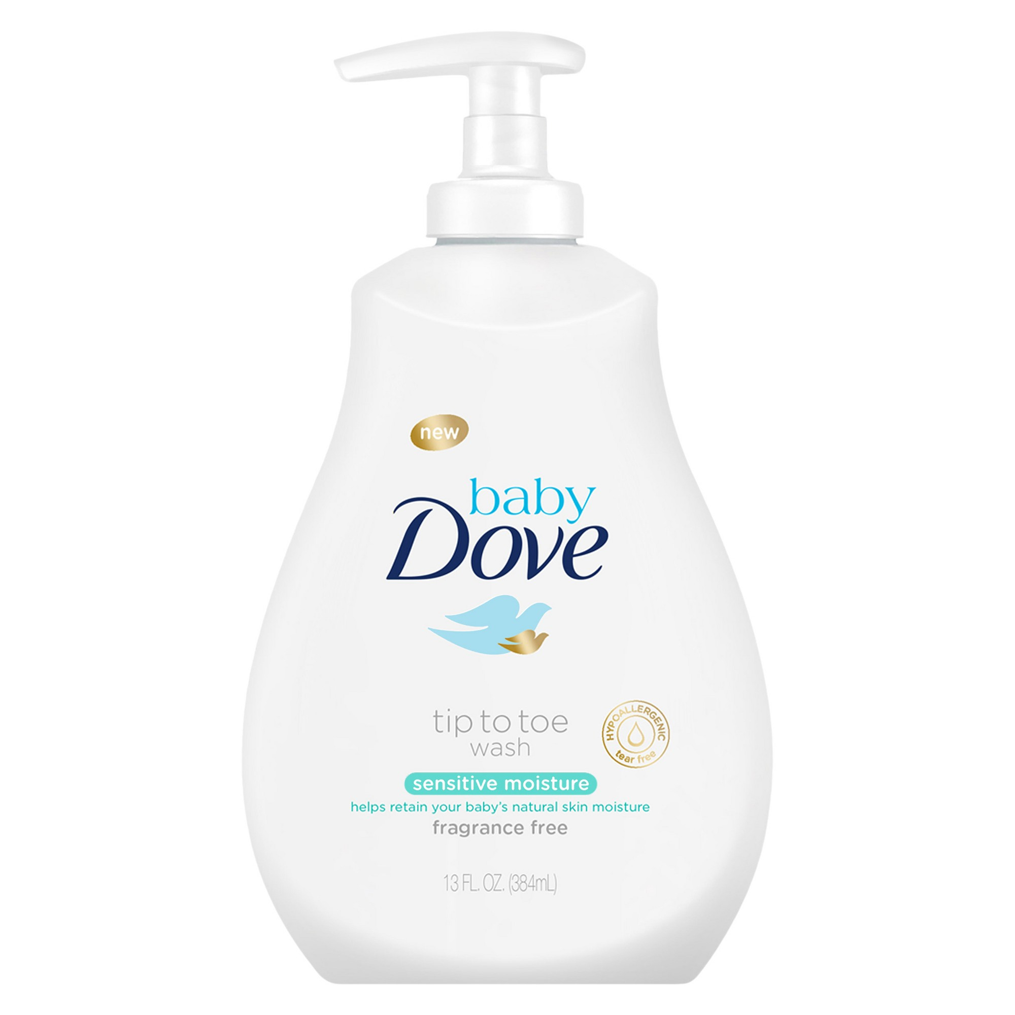 Baby Dove Sensitive Moisture Tip To Toe Fragrance Free Wash 13oz Baby Body Wash Fragrance Free Products Baby Sensitive Skin