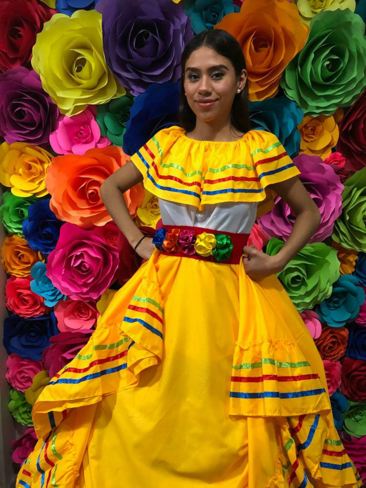 Mexican Dress With Top Handmade Beautiful Frida Kahlo Etsy In 2021 Mexican Dresses Frida Kahlo Style Mexican Embroidered Dress [ 2000 x 1500 Pixel ]