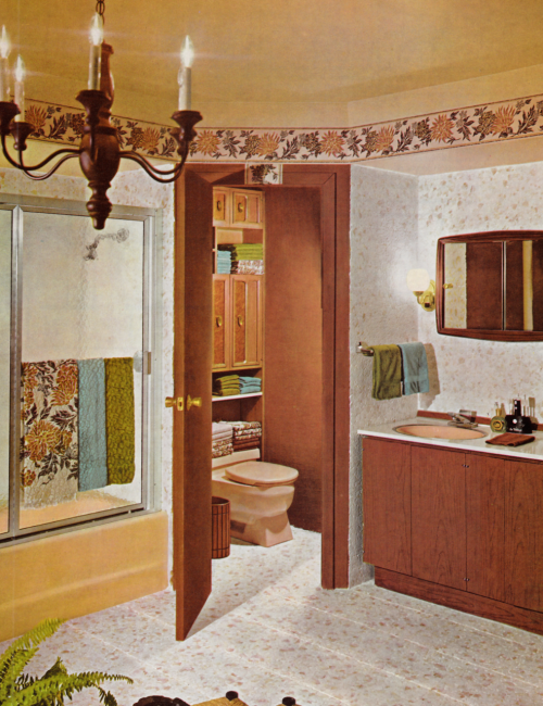 Bathroom Decor 1970s With Images