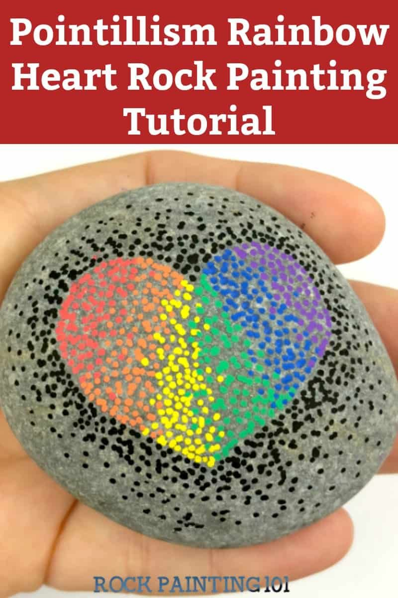 How to make a beautiful rainbow pointillism hearts on