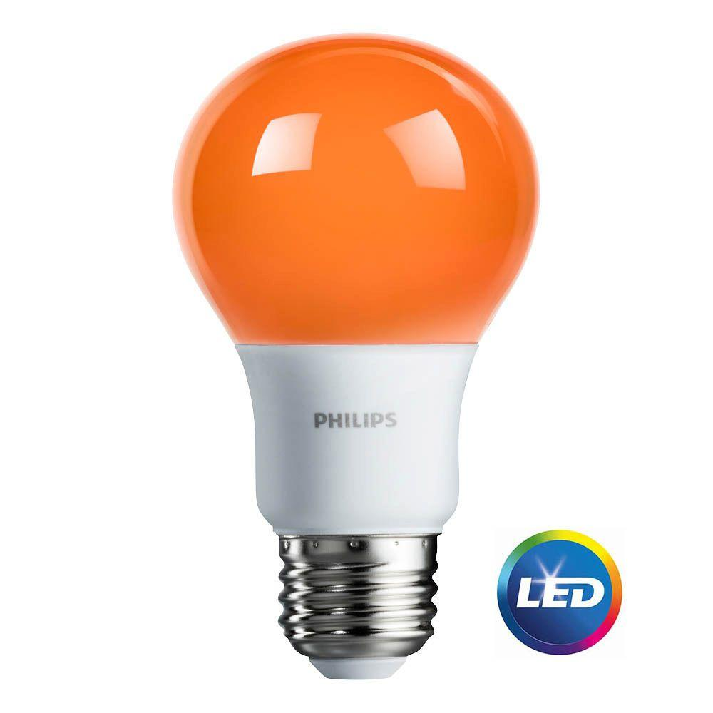 Philips 60 Watt Equivalent A19 Non Dimmable Orange Led Colored