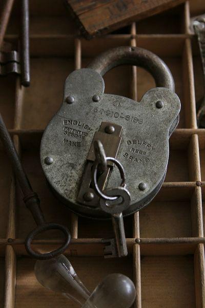 Vintage British Made Bear Shape Padlock Key アンティーク クマ型