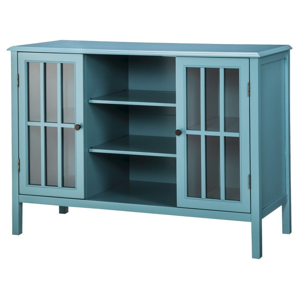 Windham Two Door With Shelves Storage Cabinet - Threshold, Blue ...