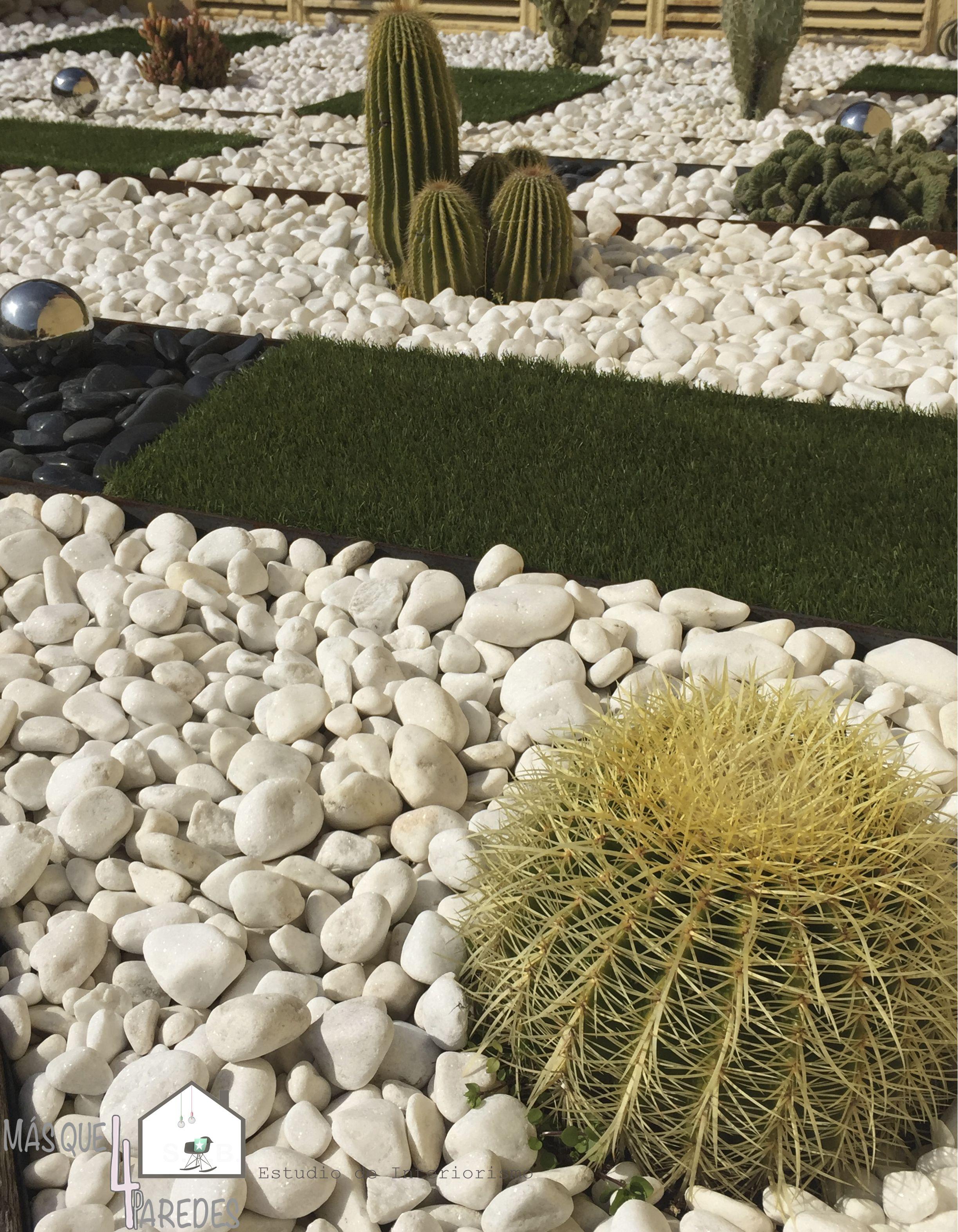 Dise o de jard n minimalista compuesto por cactus piedra - Jardines con cactus y piedras ...