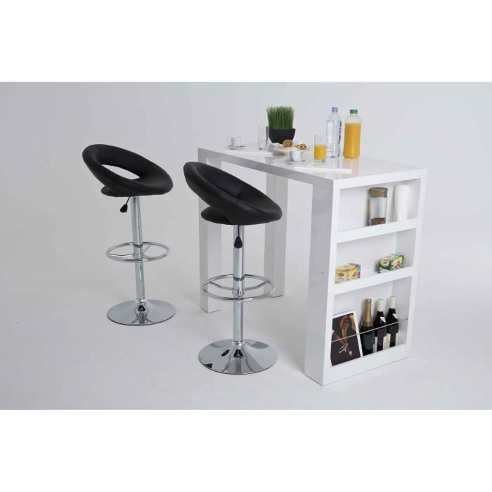 Bianca Table Bar Rectangulaire Laquee Blanc Table Bar Decoration Maison Table