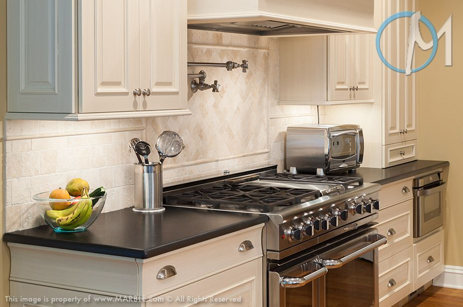 Absolute Black Leather Granite In Kitchen Photo Gallery.