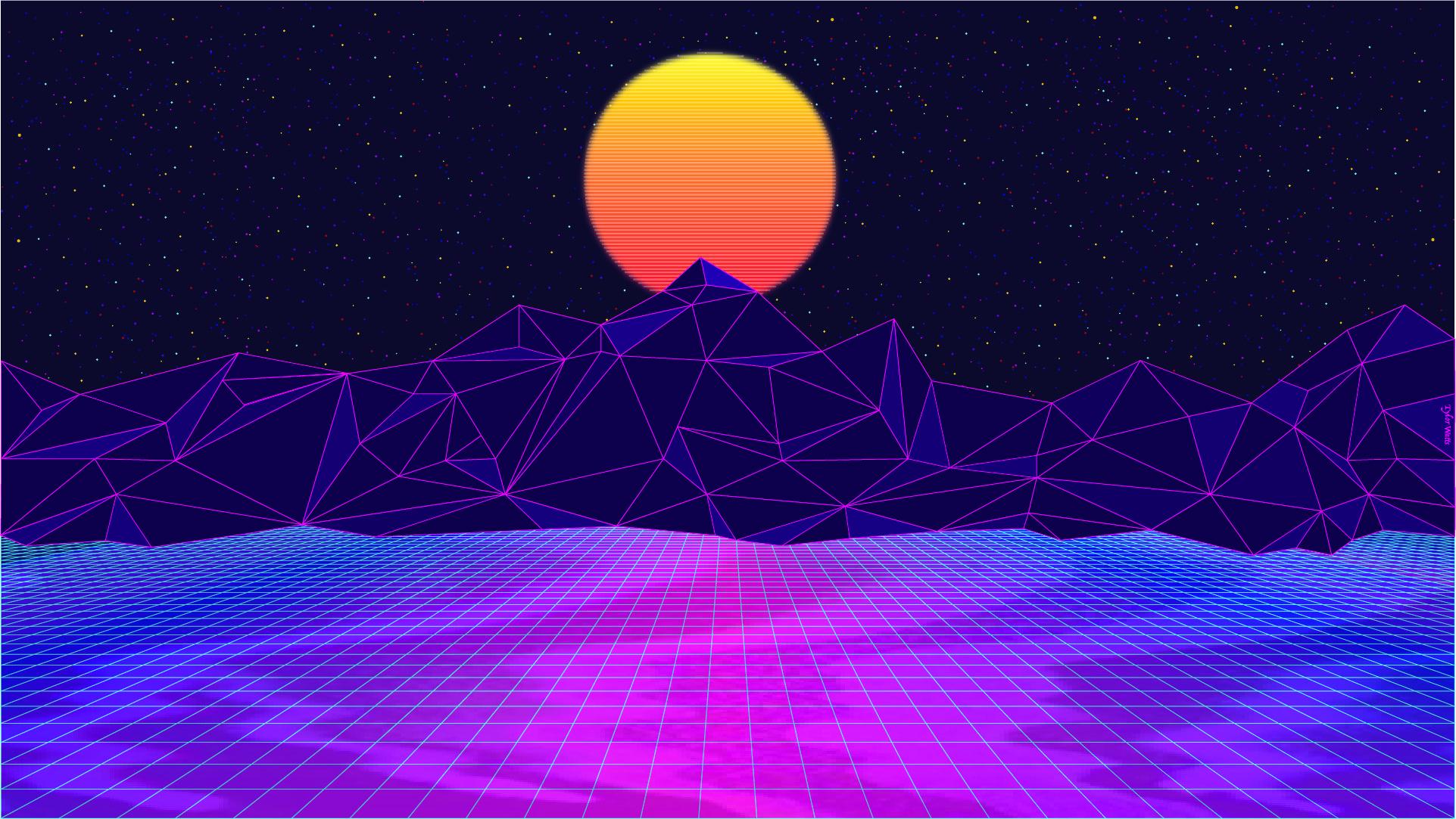 V A P O R W A V E Adobe Illustrator 1920x1080 Imgur Vaporwave Wallpaper Cute Desktop Wallpaper Desktop Wallpaper