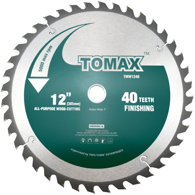 Tomax 12 Inch 60 Tooth Atb Fine Finish General Purpose Woodworking Saw Blade In 2020 Miter Saw Saw Blade Saw Blades