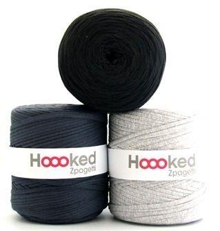 Hoooked Zpagetti Inspiratie Set Grey Mix van Hoooked Outlet op http://nl.dawanda.com/ #handgemaakt #diy