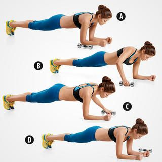 Front Plank with Weight Transfer http://www.womenshealthmag.com/fitness/abs-exercises-with-weights?slide=3